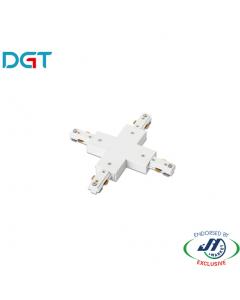 DGT X-Shape Track Joiner White