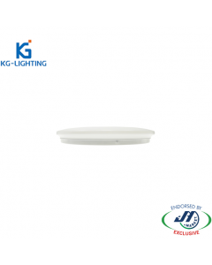 KG 18W Slim Dimmable Tri-colour LED Oyster Light-330 x H60 mm