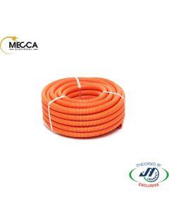 MECCA Flexible Corrugated Conduit 25mm HD Orange 50M