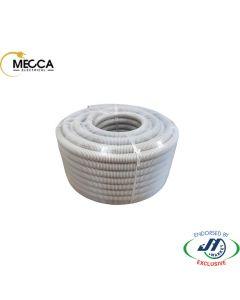 MECCA Flexible Corrugated Conduit 25mm MD Grey 50M