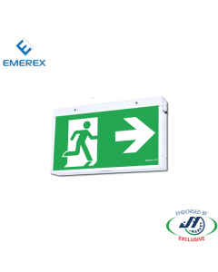 Emerex Wall&Ceiling Jumbo Exit Light 48m Viewing