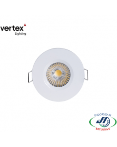 Vertex 8W LED Downlight 3000K 70mm