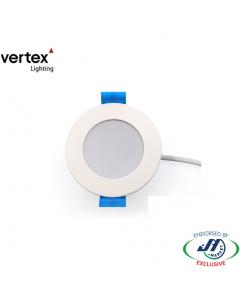 Vertex 8W Downlight IP54 - 3000K, 70mm Cut-out