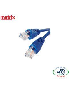 Matrix CAT5E RJ45 Patch Cord 20M Blue